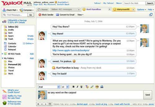 Yahoo Mail 整合即時通訊