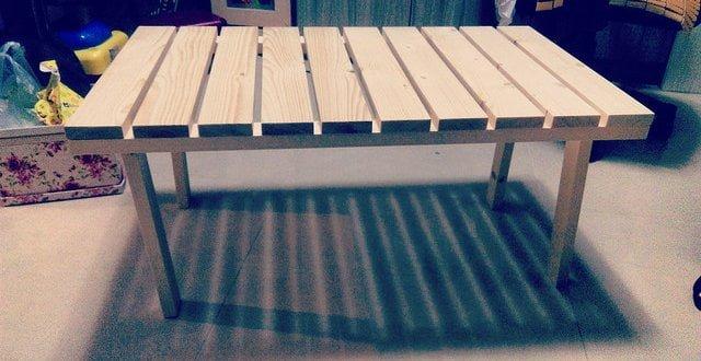 露營設備DIY: 松木組合式露營桌